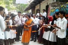 Wall-graffiti-Inauguration-vismayam-interior-designing-college