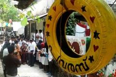 Wall-graffiti-Inauguration-vismayam-interior-designing-college1