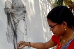 wall graffiti at vismayam