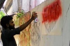 Wall-graffiti-vismayam-interior-designing-college4