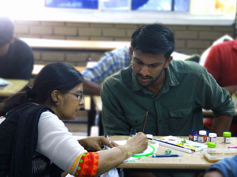 workshop_on_arts_vismayam college_diploma_students_Interior_design_and_architecture_1