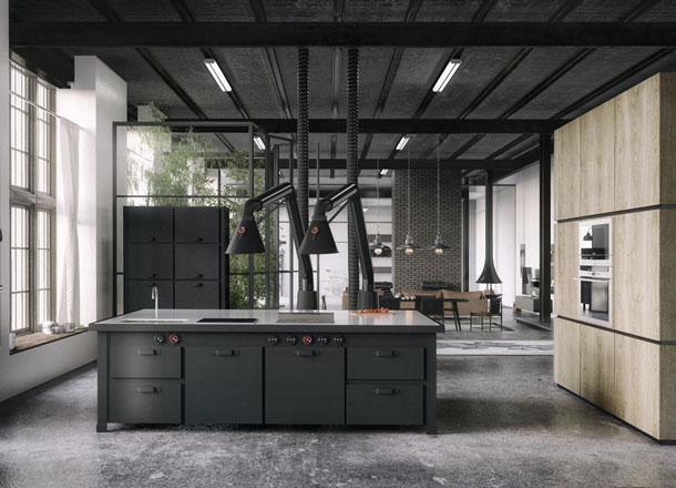 Industrial Home Kitchen Design